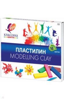 Пластилин детский Классика, 16 цветов (20С 1329-08)Пластилин более 10 цветов<br>Пластилин детский Классика.<br>В наборе: пластилин (16 цветов), стек.<br>Предназначен для лепки и моделирования.<br>Пластилин не прилипает к рукам, имеет яркие, сочные цвета, которые легко смешиваются друг с другом.<br>Для детей старше 3-х лет.<br>Сделано в России.<br>