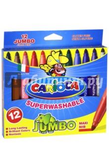 Фломастеры толстые 12 цветов CARIOCA JUMBO (40569) Universal