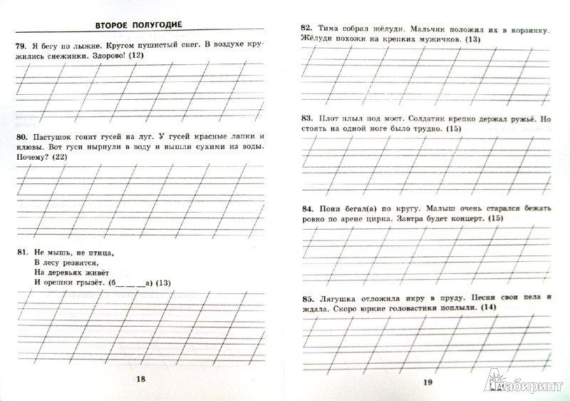 Иллюстрация 1 из 11 для Тренировочные примеры. Русский язык. 1 класс. Контрольное списывание. ФГОС - Марта Кузнецова | Лабиринт - книги. Источник: Лабиринт