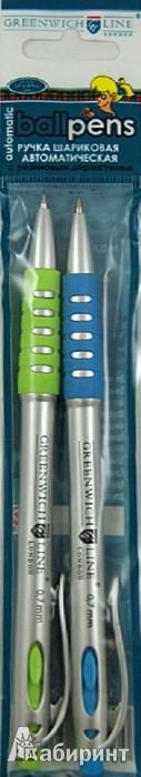 Иллюстрация 1 из 2 для Набор ручек шариковых автоматических 2 штуки, синие, 0,7мм (GL577S-2set) | Лабиринт - канцтовы. Источник: Лабиринт