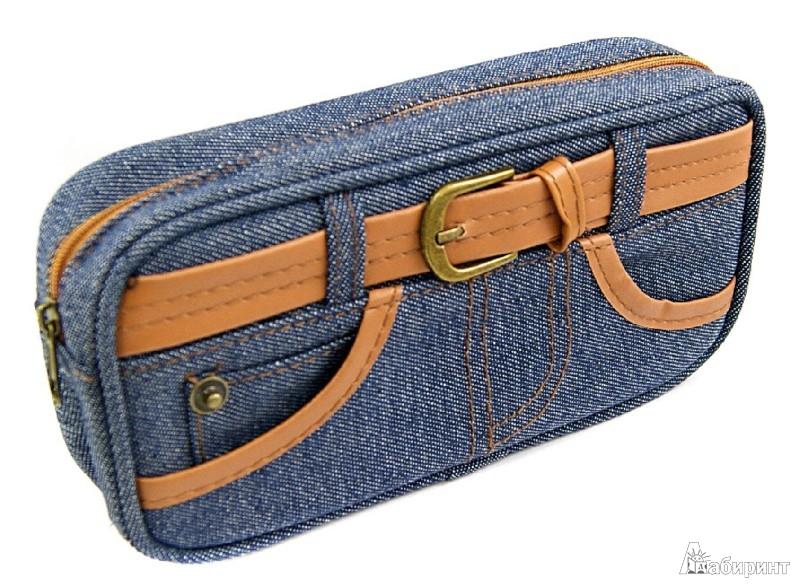Круглый пенал из джинсов 45
