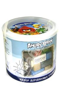 Настольная игра Набор деревянных кубиков Angry Birds в банке. 50 штук (Т56246)
