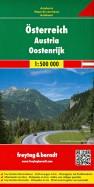 Австрия. Карта. Austria. Osterreich 1:500 000