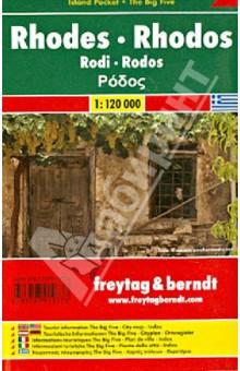 Rhodes. Rhodos. Island Pocket 1:120 000Атласы и карты мира<br>Издание представляет собой карту Родоса (масштаб 1:120 000). Включает подробную карту острова, указатели городов, а также полезную информацию для туристов.<br>