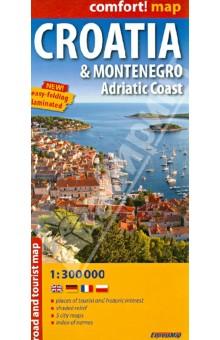 Croatia and Montenegro. Adriatic Coast 1:300 000