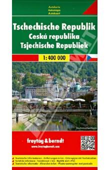 Чешская республика. Карта. Czech republic 1: 400000