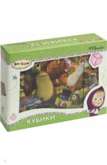 Кубики 12 шт. Маша и Медведь (87134)Кубики с картинками<br>Набор кубиков с картинками.<br>Количество кубиков: 12.<br>Материал: пластик.<br>Развивающая игра для детей старше 3 лет.<br>Производство: Россия.<br>