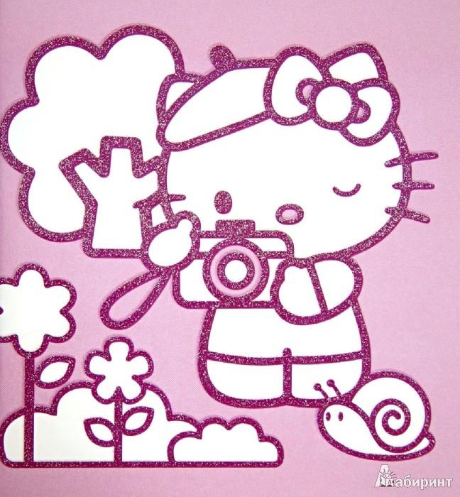 Иллюстрация 1 из 14 для Hello Kitty. Удивительные профессии. Раскраска с серебряным объемным контуром | Лабиринт - книги. Источник: Лабиринт