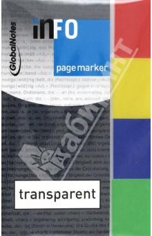 Клейкие закладки, 4 цвета, цветной край, 20х50 мм, 40 листов (5670-00) GlobalNotes