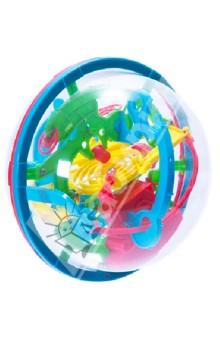Лабиринт трехмерный 100 шаговГоловоломки<br>Этот лабиринт больше подходит для детей, у него увеличенная высота бортиков дорожек и более яркие и насыщенные цвета.<br>Новое поколение игрушек-головоломок: трехмерный, шарообразный, лабиринт из 100 шагов. Игрушка очень увлекательная, даже наши сотрудники, которых сложно удивить подарками, долго не выпускали его из рук.<br>В лабиринте предусмотрены 3 стартовые площадки: со второй и третьей можно начать, если вы уронили шарик где-нибудь в середине лабиринта. Лабиринт пронумерован, чтобы в нем было проще ориентироваться и вести учет результатов.<br>Внешняя оболочка сделана из небьющегося мягкого пластика.<br>Диаметр: 13 см.<br>Производство: Китай<br>