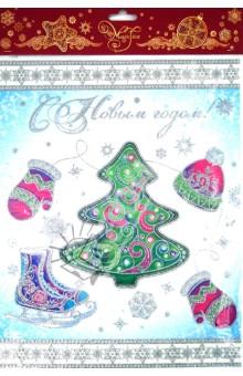 Украшение новогоднее оконное С Новым Годом (31257)