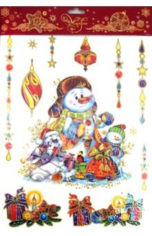 Украшение новогоднее оконное Снеговик (31264)
