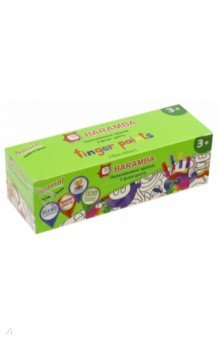 Краски пальчиковые флуоресцентные 3 цвета 40мл (B00553)
