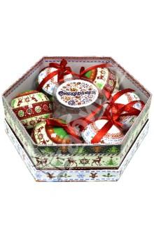 Набор шаров 6 штук Сказка Скандинавии (Н88687)Новогодние сувениры<br>Набор новогодних шаров <br>В наборе 6 штук.<br>Размер: 7,5 см.<br>Производство: Китай<br>