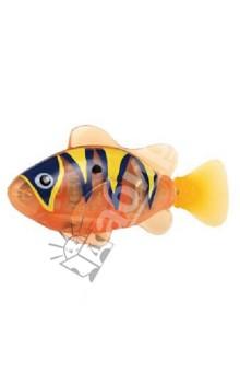 Тропическая РобоРыбка Бычок (оранжевая) (2549-5)Игрушки для ванной<br>Тропическая рыбка-робот не только выглядит как настоящая, она и двигается словно живая! Рыбка RoboFish свободно плавает в воде - опускаясь на дно или всплывая ближе к поверхности, оплывая преграды и меняя скорость движения. РобоРыбка работает от батареек и автоматически начинает плавать в воде. Интерактивная рыбка-робот понравится не только детям, но и взрослым!<br>Особенности: <br>- плавает как настоящая рыба<br>- реалистичные движения хвостом<br>- механизм активируется в воде <br>Размер рыбки примерно 8 см. <br>РобоРыбка работает на двух батарейках (в комплекте)<br>Подставка в наборе.<br>Содержит мелкие детали. Рекомендовано для детей старше 3-х лет. <br>Материал: пластмасса.<br>Сделано в Китае.<br>
