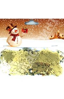 "Новогоднее конфетти ""Звездочки"" (10 гр, золото) (330520)"