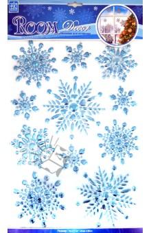 """Наклейки """"Голубые снежинки"""" (POX5203)"""