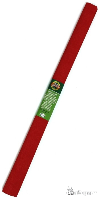 Иллюстрация 1 из 3 для Бумага гофрированная красная в рулоне (9755006001PM) | Лабиринт - игрушки. Источник: Лабиринт