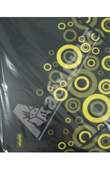 """Папка на резинке """"Black Charm"""" желтая (319784) Attache"""