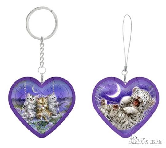 Иллюстрация 1 из 7 для Шаровый пазл Брелок Сердце Котята (G1101_2.36) | Лабиринт - игрушки. Источник: Лабиринт