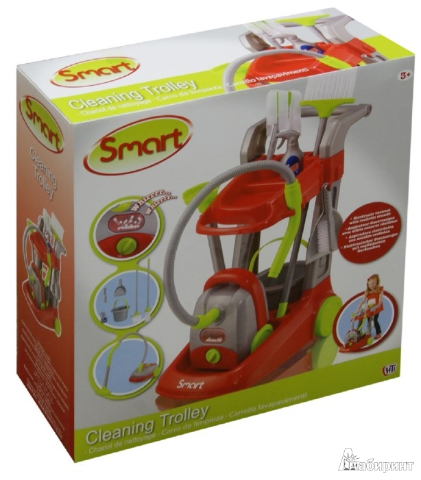 Иллюстрация 1 из 7 для Smart. Набор для уборки с тележкой (1680612.00) | Лабиринт - игрушки. Источник: Лабиринт