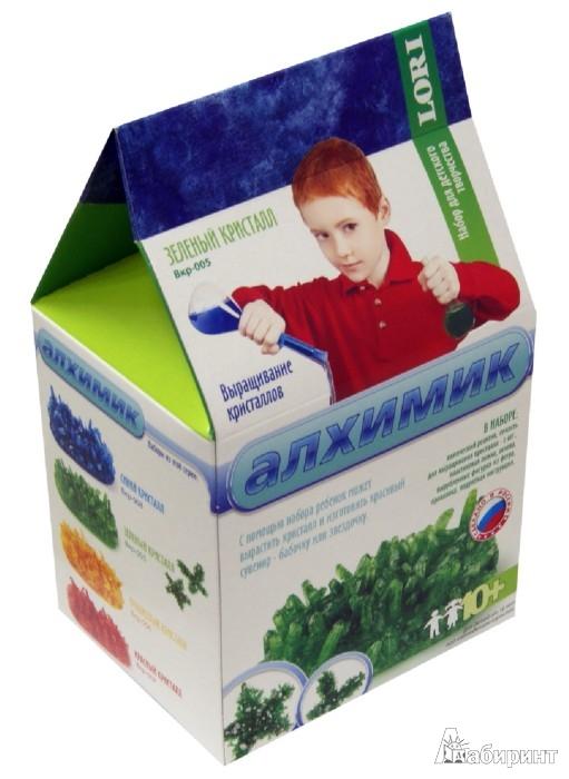 """Иллюстрация 1 из 3 для Набор для выращивания кристаллов """"Зеленый кристалл"""" (Вкр-005)   Лабиринт - игрушки. Источник: Лабиринт"""