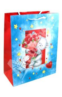 Пакет бумажный для сувенирной продукции 26x32.4x12.7 (32555)