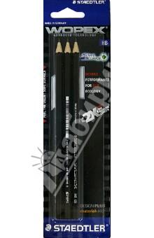 Набор чернографитных карандашей WOPEX HB (3 шт.) (180HB-9BK3)Наборы карандашей<br>Набор чернографитных карандашей. <br>В наборе 3 карандаша (HB, черный корпус).<br>Служат вдвое дольше обычных карандашей.<br>Превосходная устойчивость к поломке. <br>Неповторимые ощущения при письме. <br>Нежная бархатистая поверхность и гладкий скользящий грифель.<br>Сделано в Германии.<br>