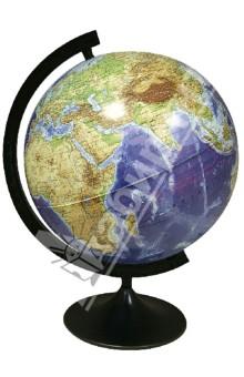 Глобус Земля из космоса, диаметр 320 мм (355) Уральская картографическая фабрика