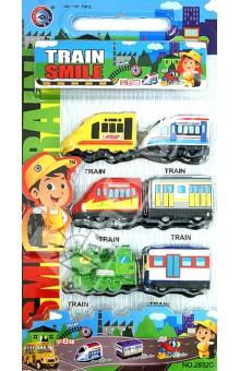 Набор инерционных машинок Train Smile, 6 шт (2832С)Наборы машин. Парковки<br>Набор инерционных машинок.<br>В наборе 6 штук.<br>Материал: пластмасса.<br>Упаковка: пластиковый блистер.<br>Сделано в Китае.<br>