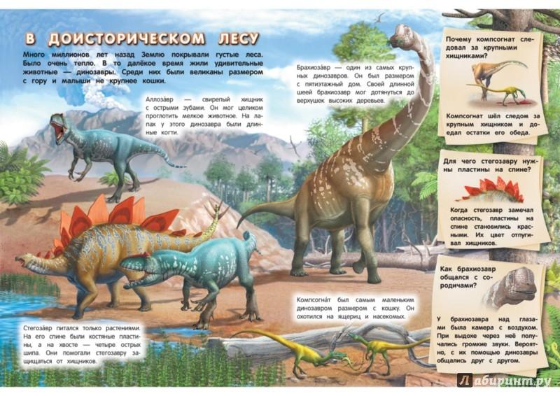 Иллюстрация 1 из 7 для Динозавры - Елизавета Малевич | Лабиринт - книги. Источник: Лабиринт