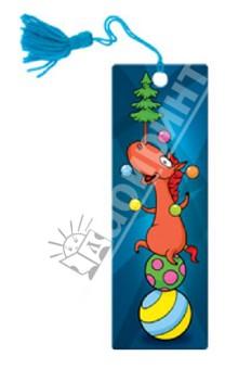 """Сувенир. 3D-закладка """"Цирковая лошадь"""". (52131)"""