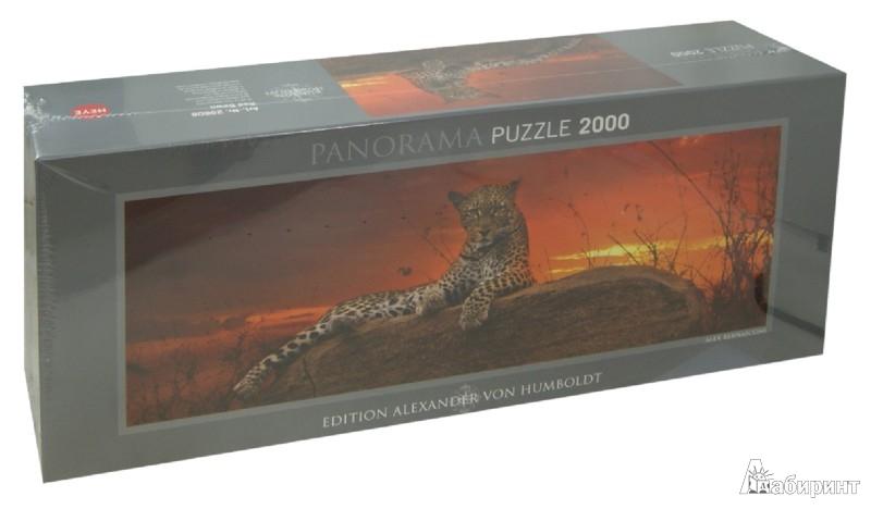 """Иллюстрация 1 из 2 для Puzzle-2000 """"Леопард на рассвете"""" (29608)   Лабиринт - игрушки. Источник: Лабиринт"""