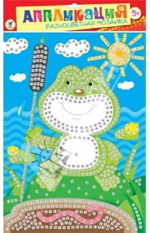 Разноцветная мозаика Лягушонок (2602)Конструирование рамок, коллажей и панно<br>Набор для детского творчества.<br>В комплекте: основа с рисунком и схемой размещения квадратиков, квадратики из мягкого пластика на самоклеящейся основе восьми цветов, декоративные элементы (стразы, глазки и др.).<br>Материалы: картон, мягкий пластик ЭВА, декоративные элементы.<br>Упаковка: пакет с подвесом.<br>Для детей от 5-ти лет.<br>Сделано в Китае.<br>
