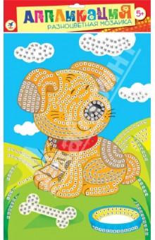 Разноцветная мозаика Щенок (2603)Конструирование рамок, коллажей и панно<br>Набор для детского творчества.<br>В комплекте: основа с рисунком и схемой размещения квадратиков, квадратики из мягкого пластика на самоклеящейся основе восьми цветов, декоративные элементы (стразы, глазки и др.).<br>Материалы: картон, мягкий пластик ЭВА, декоративные элементы.<br>Для детей от 5-ти лет.<br>Не рекомендуется детям до 3-х лет из-за наличия мелких деталей.<br>Сделано в Китае.<br>