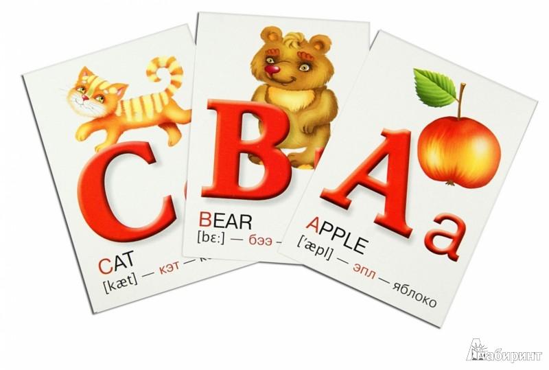 Иллюстрация 1 из 10 для Английский алфавит в картинках. Набор карточек | Лабиринт - книги. Источник: Лабиринт