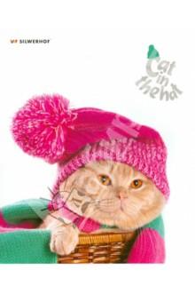 """Тетрадь 48 листов, клетка """"Cat in the hat"""", в ассортименте (811309-55)"""