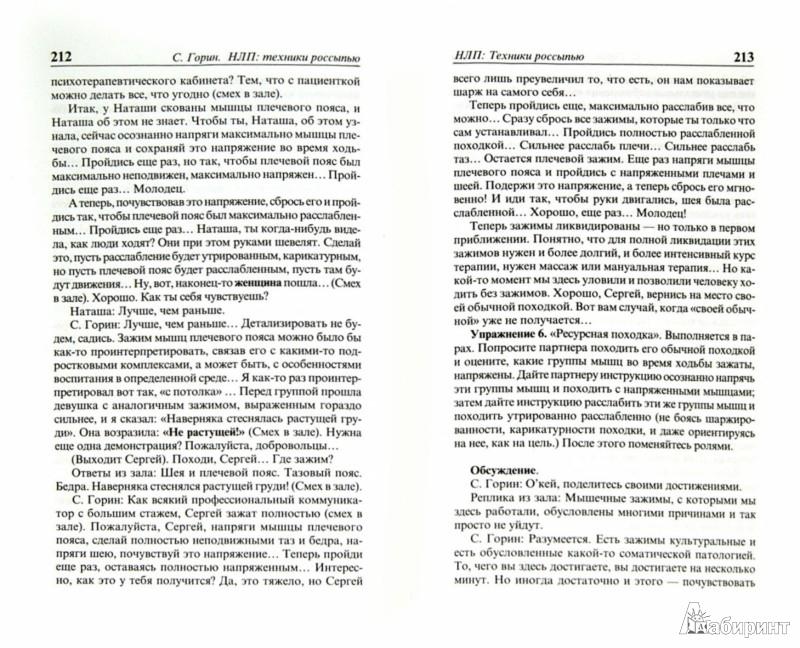 Иллюстрация 1 из 12 для НЛП: Техники россыпью - Сергей Горин | Лабиринт - книги. Источник: Лабиринт