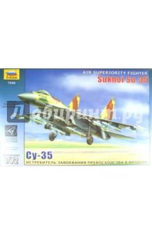 Российский истребитель-бомбардировщик Су-35 (7240)Пластиковые модели: Авиатехника (1:72)<br>Одноместный истребитель-бомбардировщик Су-35 - результат глубокой модификации Су-27. Су-35 не имеет в настоящее время аналогов по широте применяемого вооружения, предназначенного для действий по воздушным, наземным и морским цепям.<br>Набор деталей для сборки модели самолета.<br>Набор собирается при помощи специального клея, выпускаемого предприятием Звезда.<br>Клей и краски продаются отдельно от набора.<br>Масштаб: 1:72.<br>Срок годности не ограничен.<br>Производство: Россия.<br>Моделистам до 10 лет рекомендуется помощь родителей.<br>Не рекомендуется детям до 3 лет. Осторожно, мелкие детали!<br>Упаковка: картонная коробка.<br>