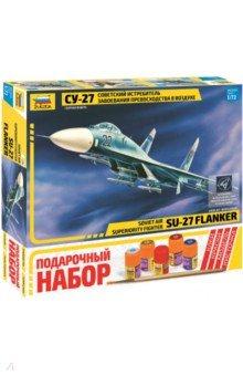 Советский истребитель-бомбардировщик Су-27 (7206П)Пластиковые модели: Авиатехника (1:72)<br>Самолет был принят на вооружение советских ВВС в начале 80-х годов. На его основе было разработано целое семейство боевых машин. Су-27 несет до 8 тонн вооружения на внешней подвеске и оснащен мощным прицельным комплексом и пилотажно-навигационным оборудованием. Способен выполнять боевые задачи днем и ночью.<br>Набор деталей для сборки модели, клей, кисточка, 4 краски.<br>
