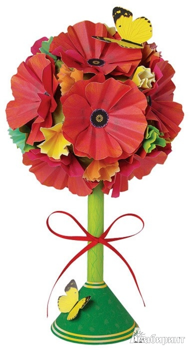 "Иллюстрация 1 из 4 для Топиарий ""Краски лета"". Набор для творчества (АБ 41-532) | Лабиринт - игрушки. Источник: Лабиринт"