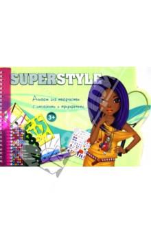 Альбом для творчества с наклейками и трафаретами Superstyle (TZ 10319)