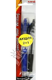 Набор ручек автоматических Lacnock,  3штуки (SN-100(05)/03_ROZ_BLACK/BLUE)Наборы шариковых ручек<br>Набор автоматических ручек.<br>В наборе: 2 синие и 1 черная ручка.<br>Толщина стержня: 0,5 мм.<br>Пластиковый корпус с резиновым держателем.<br>Упаковка6 блистер.<br>Сделано в Японии.<br>