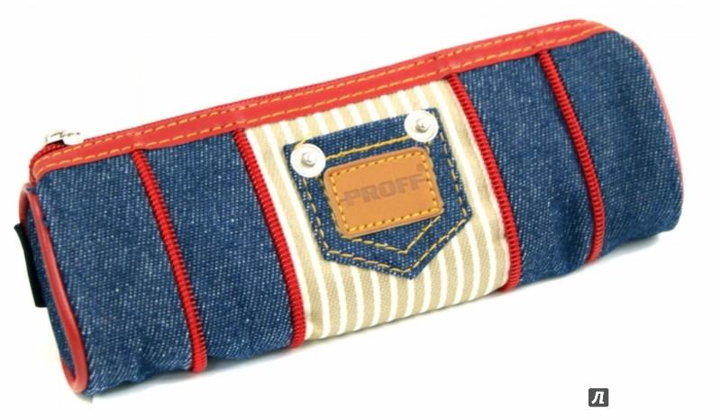 Круглый пенал из джинсов 73