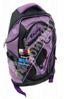Рюкзак подростковый Enjoy 41*36*20 см (PF-201433)Рюкзаки школьные<br>Рюкзак.<br>1 отделение.<br>4 кармана на молнии.<br>Уплотненные лямки.<br>Материал: текстиль, паралон, пластик.<br>Сделано в Китае.<br>
