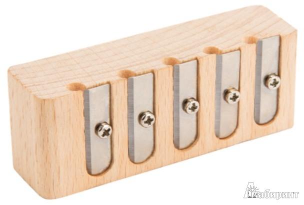 Иллюстрация 1 из 2 для Точилка деревянная с 5 отверстиями (070137) | Лабиринт - канцтовы. Источник: Лабиринт