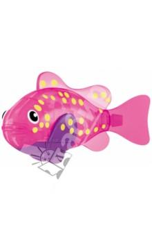 РобоРыбка Светодиодная ВспышкаРоботы и трансформеры<br>Тропическая рыбка-робот не только выглядит как настоящая, она и двигается словно живая! Рыбка RoboFish свободно плавает в воде - опускаясь на дно или всплывая ближе к поверхности, оплывая преграды и меняя скорость движения. РобоРыбка работает от батареек и автоматически начинает плавать в воде. Интерактивная рыбка-робот понравится не только детям, но и взрослым!<br>Особенности: <br>- плавает как настоящая рыба<br>- реалистичные движения хвостом<br>- механизм активируется в воде <br>РобоРыбка работает на двух батарейках (в комплекте)<br>Подставка в наборе.<br>Содержит мелкие детали. Рекомендовано для детей старше 3-х лет. <br>Материал: пластмасса.<br>Сделано в Китае.<br>