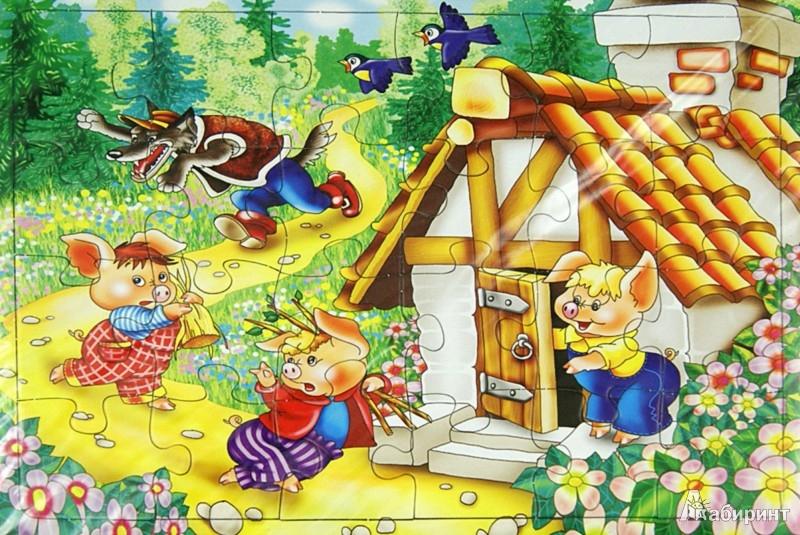 """Иллюстрация 1 из 6 для Пазл-24 """"Три поросенка"""" (П-2408)   Лабиринт - игрушки. Источник: Лабиринт"""