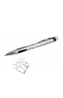Ручка-автомат шариковая, цвет корпуса серебристый (A334B1) Proff