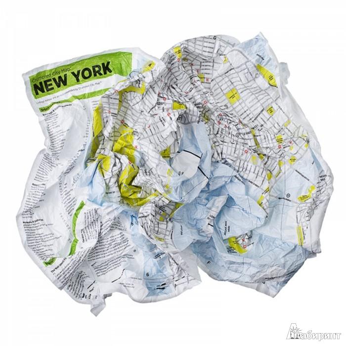 """Иллюстрация 1 из 4 для Мятая карта """"Нью-Йорк"""" (133387)   Лабиринт - книги. Источник: Лабиринт"""